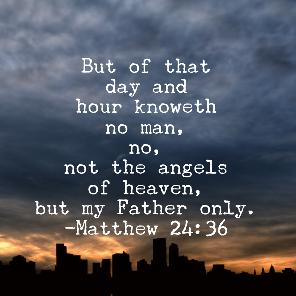 Image result for matthew 24:36